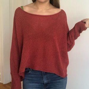 BCBG MAXAZRIA Off Shoulder Oversize Sweater
